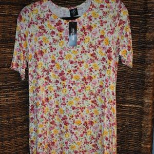 flower swing tunic